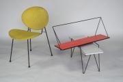 Soubor drátěného nábytku z 60. let 20. století